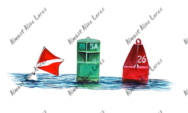 Beach Decals - Channel Markers