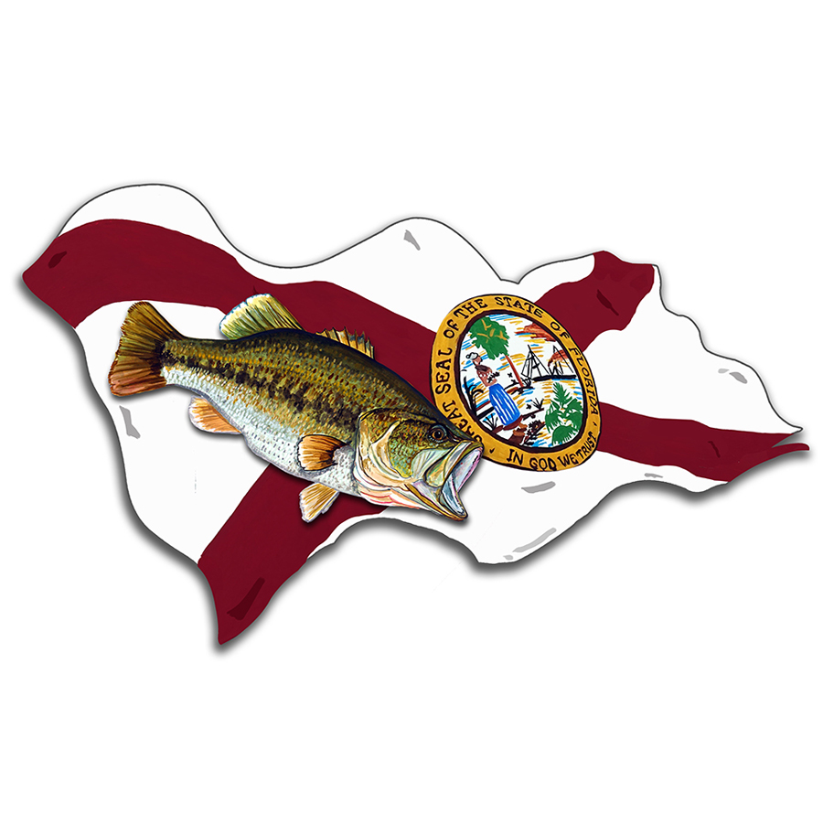 Florida Flag w/ Largemouth Bass