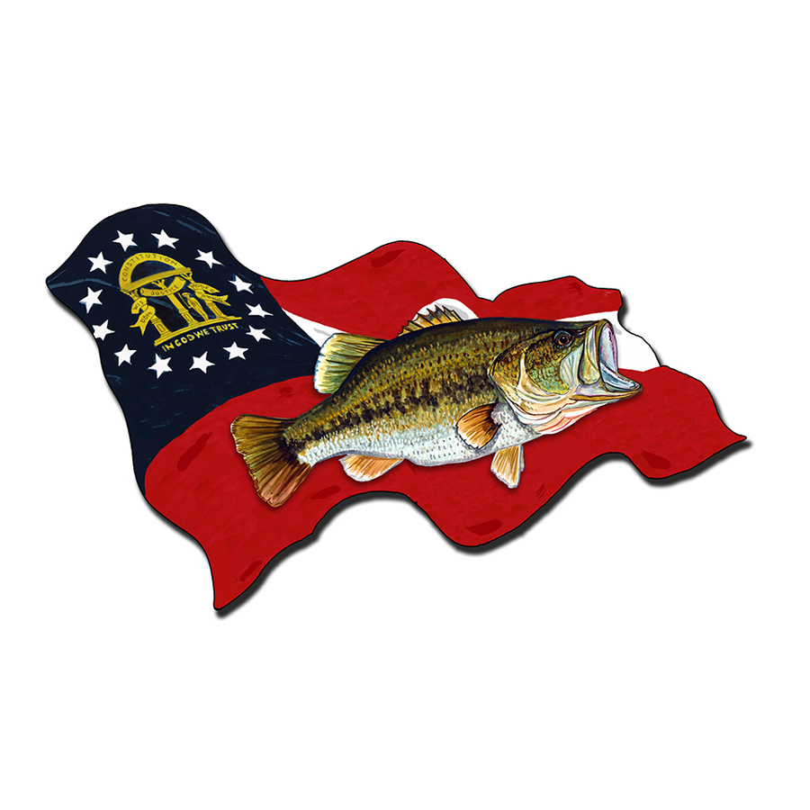 Georgia Flag w/ Largemouth Bass
