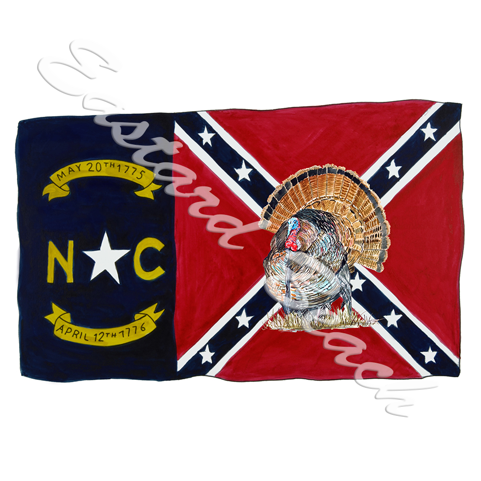 NC Confederate Flag w/ Turkey