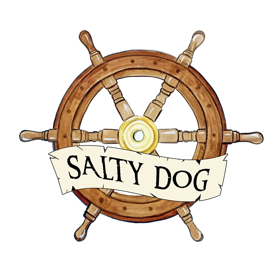 """Salty Dog"" - Ship Wheel"
