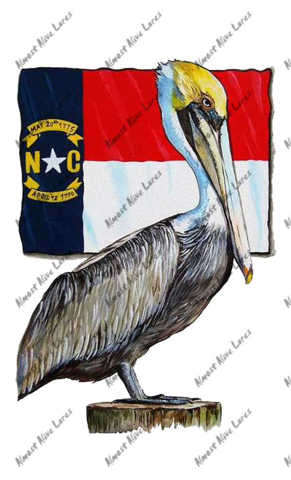 Bird Decal - Nc Flag And Pelican