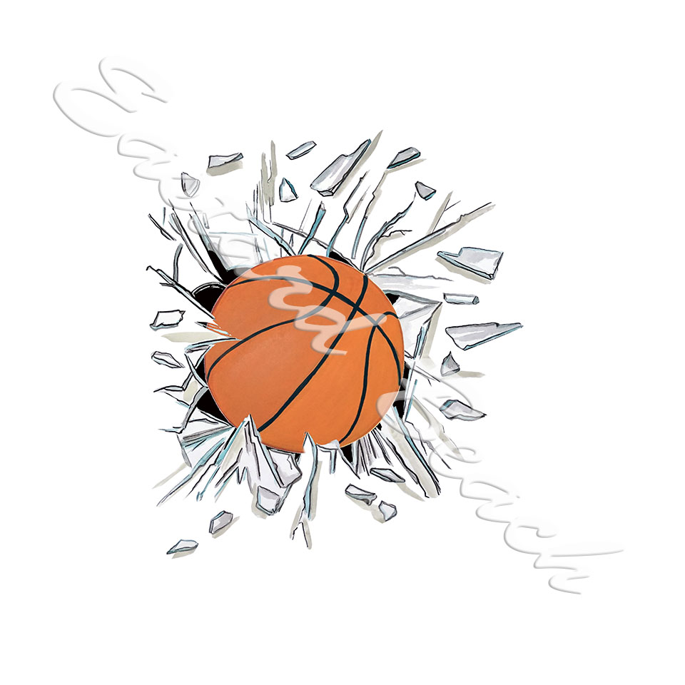 Broken Glass Basketball