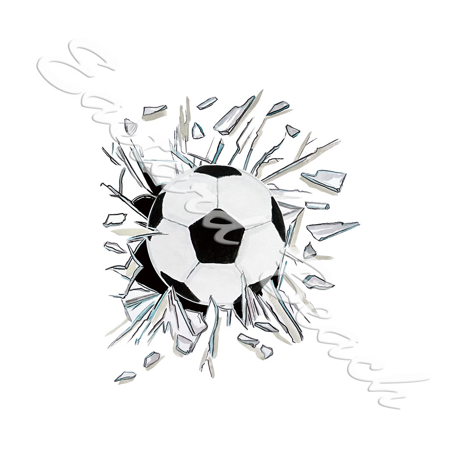 Broken Glass Soccer